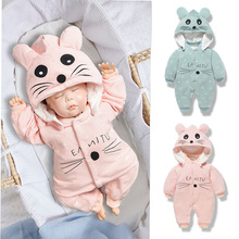 baby clothes newborn Cartoon rompers rabbit panda costume for girls boys kids animal sets infant autumn winter toddler cosplay цены онлайн