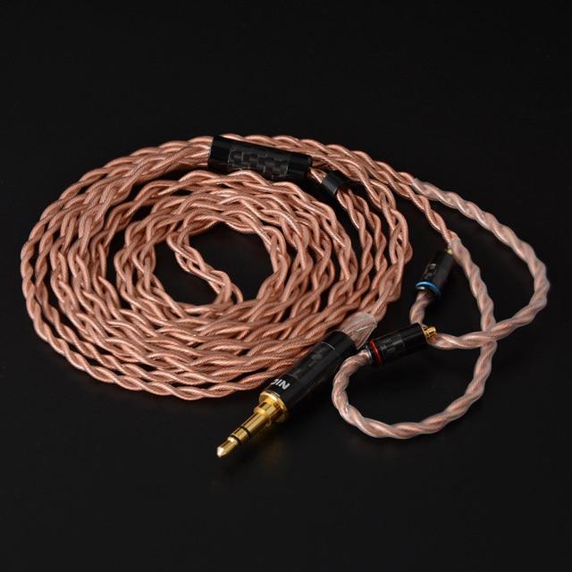 NICEHCK 4 ядерный 4N OFHC медный кабель высокой чистоты без кислорода 3,5/2,5/4,4 мм штекер MMCX/2Pin для C12 TRNV90 KZZSX NICEHCK NX7PRO/F3