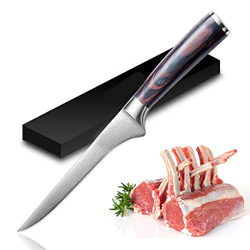 6 inch Deboning <font><b>Knife</b></font> Damascus Steel Sharp Boning Cut Meat <font><b>Knife</b></font> <font><b>Professional</b></font> Pick Bone Slices <font><b>Kitchen</b></font> Chef Special Cooking Tool image
