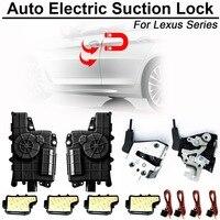 Carbar inteligente auto sucção elétrica fechadura da porta para lexus série automático macio fechar porta super silêncio veículo carro porta