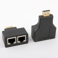 1 Pair HDMI Dual RJ45 CAT5E CAT6 UTP LAN Ethernet HDMI Extender Repeater Adapter 1080P For HDTV HDPC PS3 STB(China)