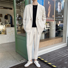 New suit suit male pendant feeling spring and autumn daily simple trousers casual trend slim suit spot