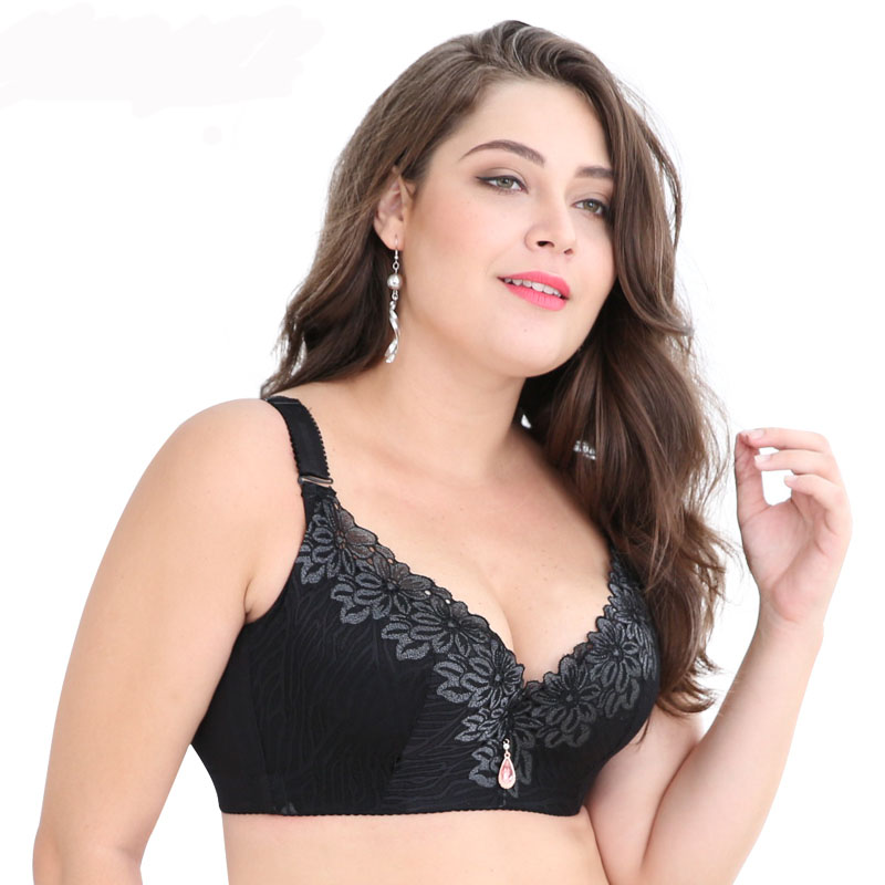 Sanderala <font><b>Sexy</b></font> Women <font><b>Lace</b></font> <font><b>Push</b></font> <font><b>Up</b></font> Plus Size Adjustable Gathered Women Large <font><b>D</b></font>-E <font><b>Cup</b></font> <font><b>Bras</b></font> Brassiere Print Lingerie Underwear image