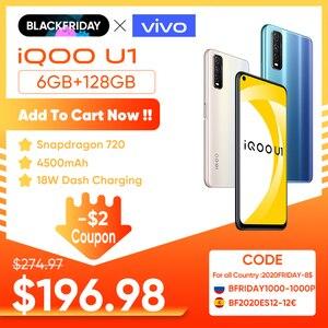 Original vivo iQOO U1 4G Phone 6GB 128GB Snapdragon 720 4500mAh Big Battry 18W Dash Charging 48.0MP UFS 2.1 Android 10 Cellphone
