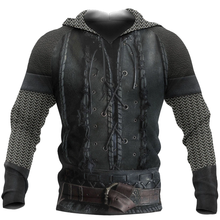 Retro Men Tops Warrior Armor 3D Full Printed Unisex Hoodie Autumn and Winter Fashion Casual Zipper Hoodie DY53
