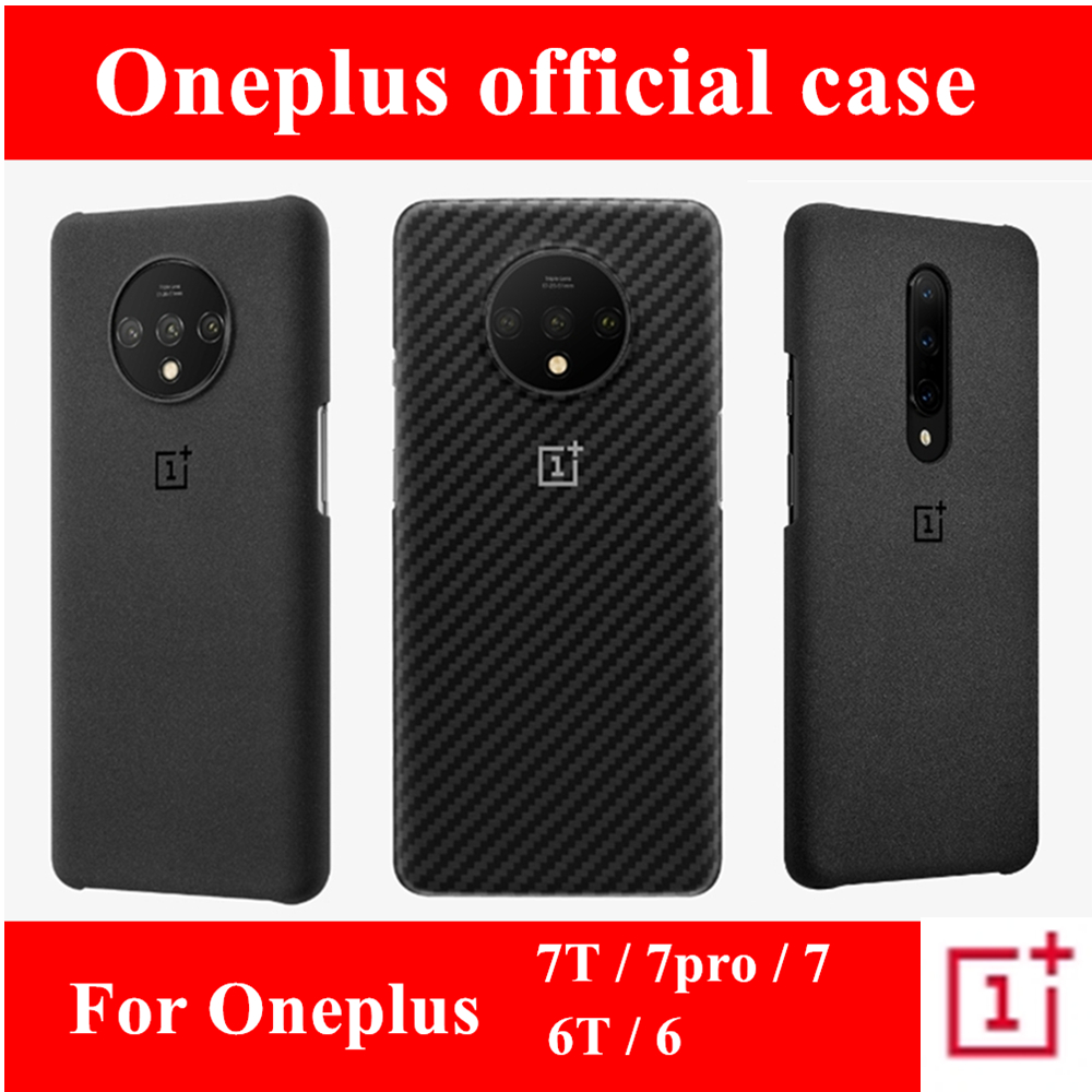 100% official sandstone silicone back cover for OnePlus 7T 6T 6 7 pro protective case original accessories karbon Nylon bumper