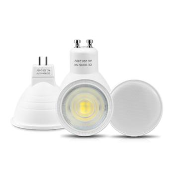 Reflektory LED GU10 MR16 żarówka LED 220V 7W nie ściemniająca się lampa GU10 GU5 3 lampa świecąca W dół aluminiowa płytka drukowana do wnętrz oświetlenie punktowe domu tanie i dobre opinie MALITAI CN (pochodzenie) Przemysłowe ROHS 1 Year Z tworzywa sztucznego Żarówki led LED Spotlight Bulb Nikiel szczotkowany
