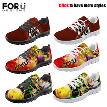 FORUDESIGNS Spring Autumn Casual Men Shoes Cool Anime Dragon Ball Print Male Sneakers Breathable Mesh Light Flats for Teen Boys