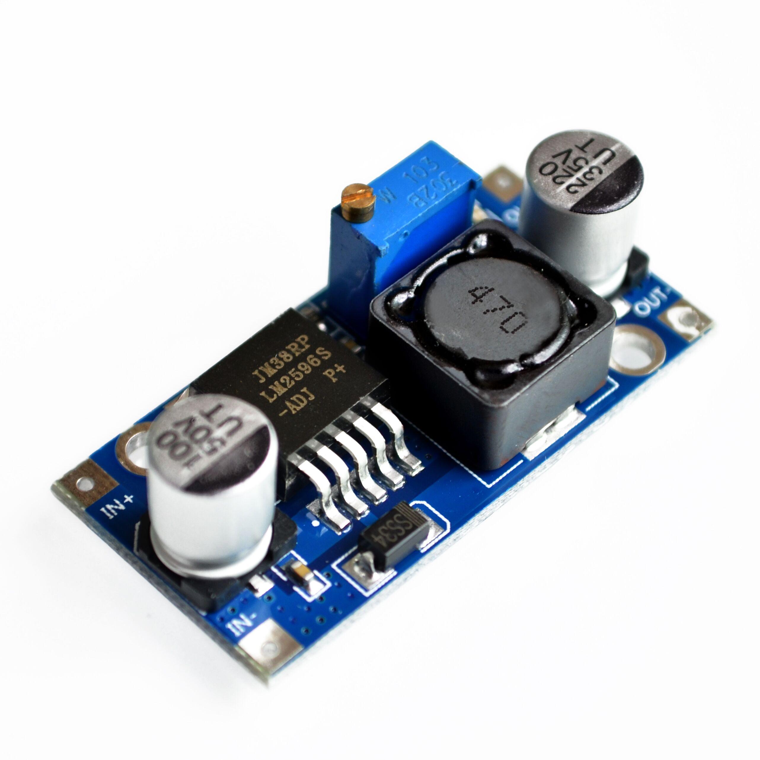 Ультра-маленький Модуль питания LM2596 DC/DC BUCK 3A настраиваемый понижающий модуль-регулятор Ultra LM2596S