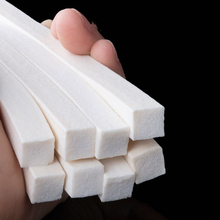1Meter Silicone Foam Tape Square Sponge Strip White Silicone Foamed Rubber Doors Windows Gasket Trim Seal Sponge Bar Seal Strip
