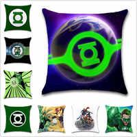 Justice League hero Green lantern segno comic Fodere per Cuscini Decorazione sedia di Casa divano sedile amico dei bambini camera da letto regalo federa