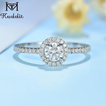 Natural Diamonds 10K white gold Engagement Ring 1