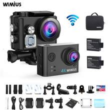 WIMIUS 4K Ultra HD Sports Action Camera WiFi 170D Outdoor Sport Camera Action Cam 40M Waterproof Video Recording Helmet Cameras(China)
