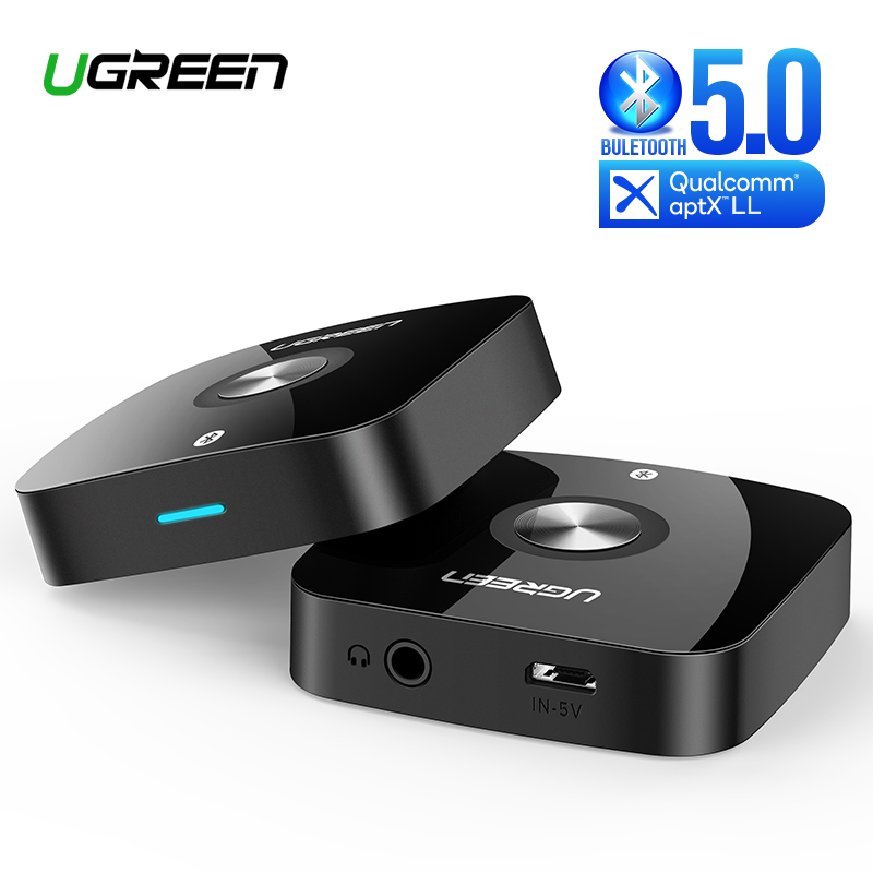 Ugreen Wireless Bluetooth 5.0 Receiver 3.5mm Jack APTX LL AUX 3.5 Music Receiver HiFi Audio Adapter For Car Blutooth Receptor