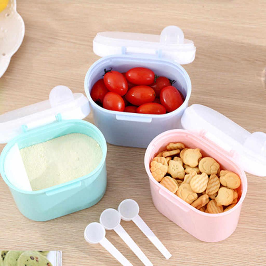 Caja de almacenamiento de alimentos dispensador de fórmula de leche en polvo portátil para bebés y niños