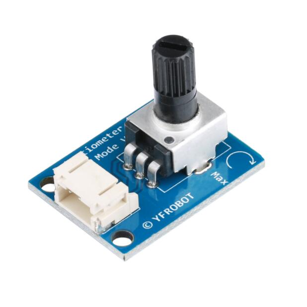 3pcs YFRobot Potentiometer Module / Analog Output / 10K Resistance / Single Turn Adjustable / Metal Knob