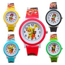 Dropshipping Cartoon Dog Children Quartz Watches Electronic Boy Wristwatch
