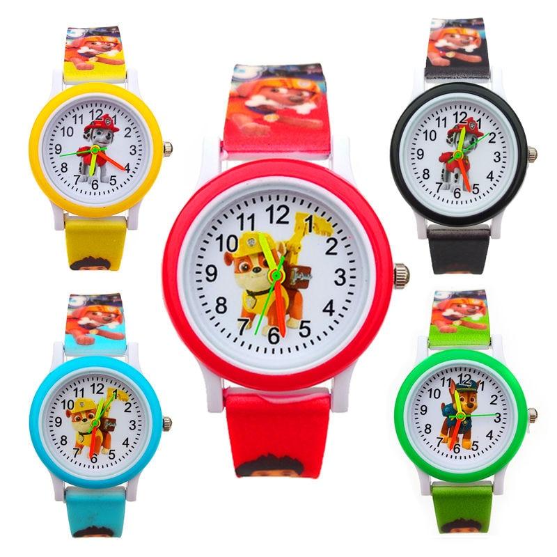 Dropshipping cão dos desenhos animados crianças relógios de quartzo eletrônico menino relógio de pulso menina festa de aniversário presente da criança do bebê crianças relógio