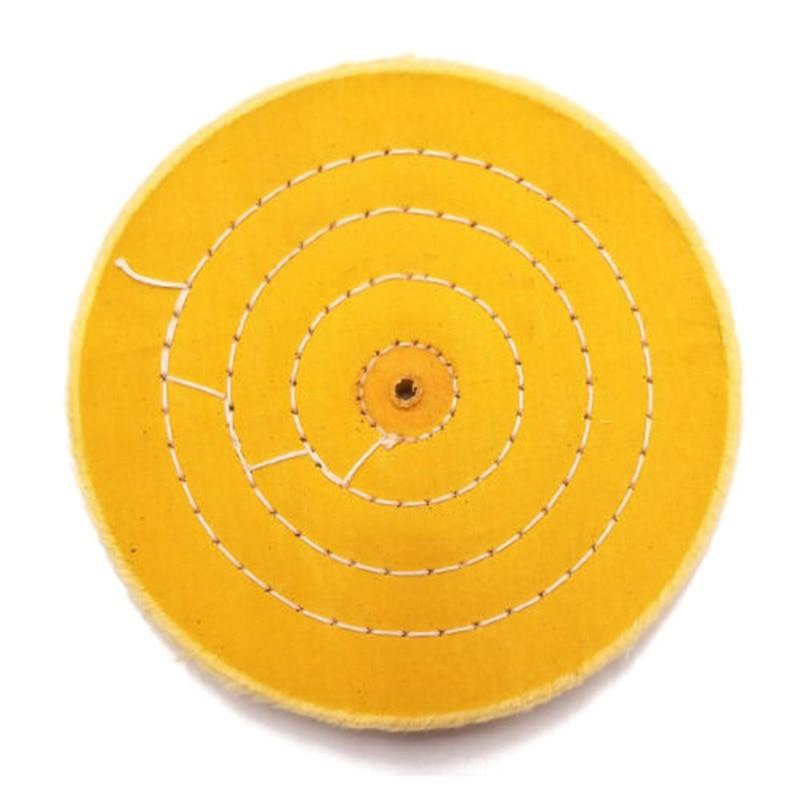 6 Polishing Grinding Hard Density 1/2 Inch 50 Ply Buffing Wheel 150MM Diameter