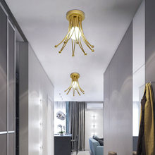 Современный металлический потолочный светильник с лампочкой