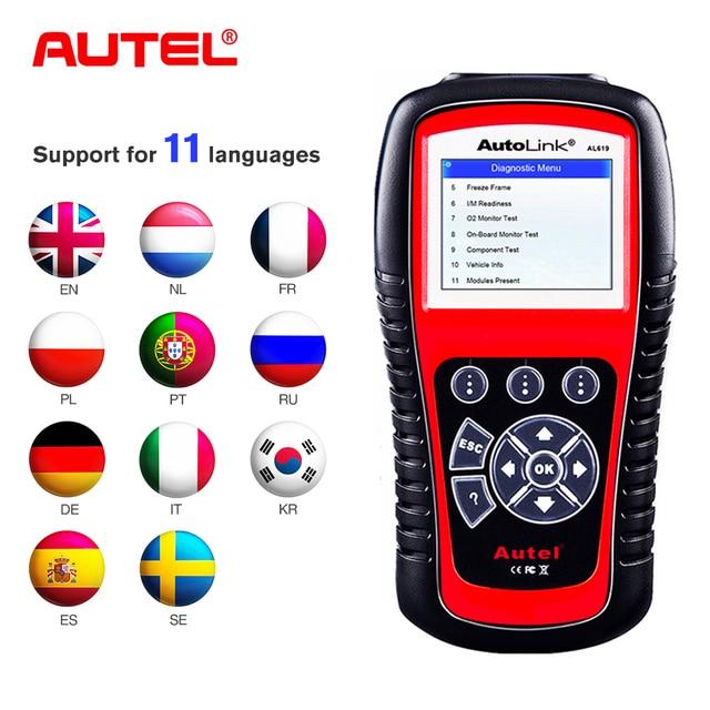 Autel AutoLink AL519 Enhanced OBD2 Auto Scanner Code Reader Tool Graphing Data
