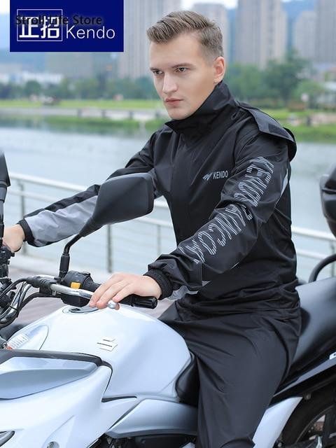 Adults Nylon Motorcycle Raincoat Outdoor Riding Men and Women Full Body Waterproof Poncho Rain Jacket Partner Capa De Chuva Gift 1