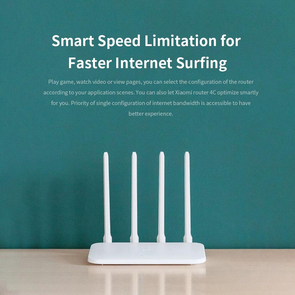 Xiaomi Mi Wifi Router 4C High-Speed Wifi Through The Wall King Home Intelligent Anti-Mite Network 100 Mega Fiber Optical Router 6