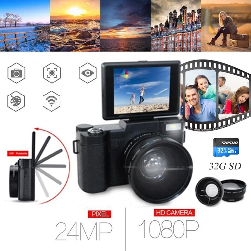 3 Tft Lcd Full Hd 24mp Digital Camera Video 1080p Camcorder Cmos Video Lens Filter Mini Digital Camera 32sd Card Point Shoot Cameras Aliexpress