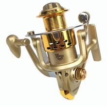 MeterMall Fishing Reel Electroplating Right/Left Hand Interchangeable Spinning Wheel Reel Gold Shell цена