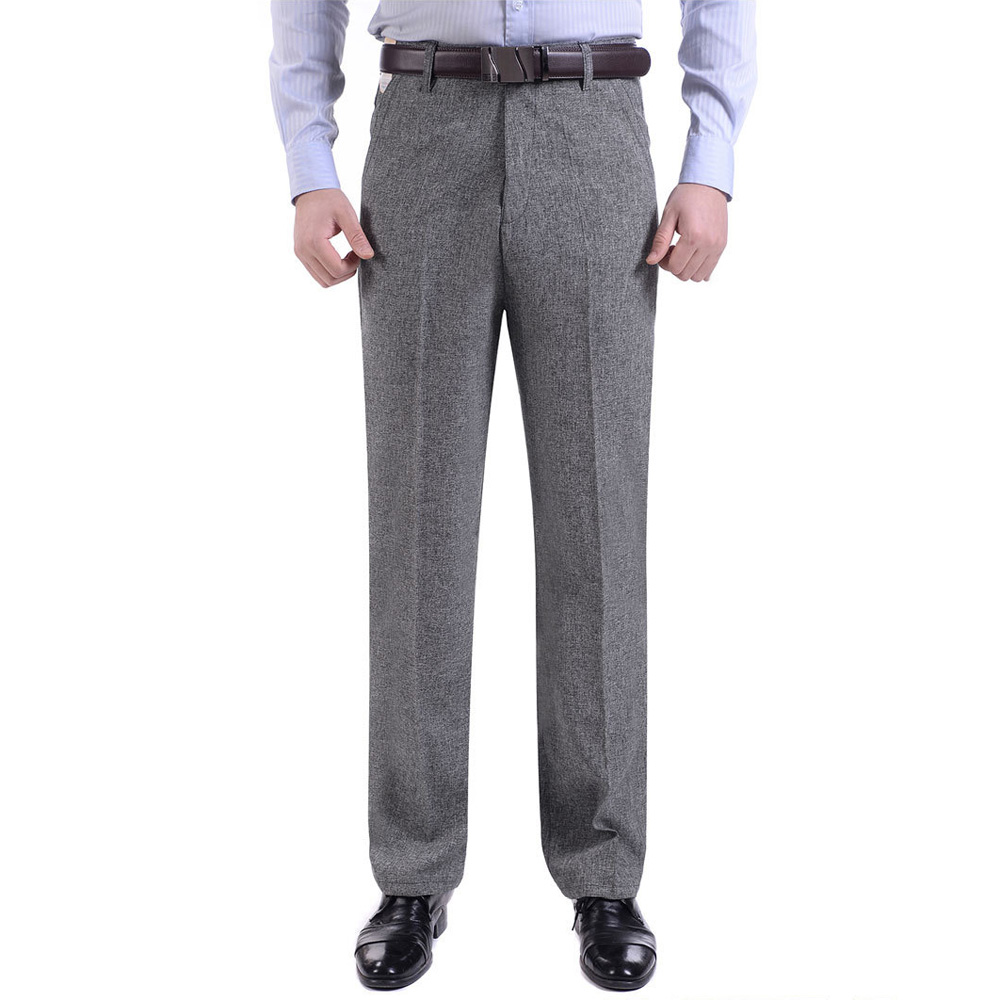 Thoshine Brand Men Thin Suit Pants Formal Business Trousers Straight Style Male Smart Casual Long Pants Lightweight Plus Size