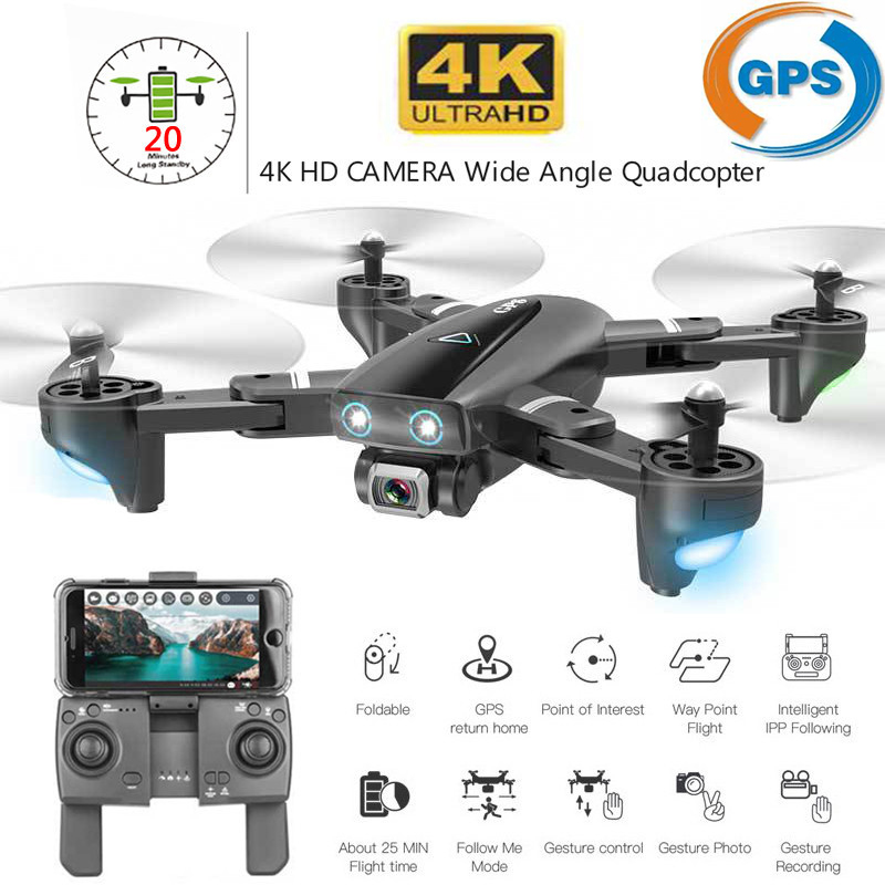 S167 GPS Drone 4K WIFI 1080P FPV Camera Drones gps follow me Altitude Hold wide angle Quadcopter with Camera Foldable RC Drone
