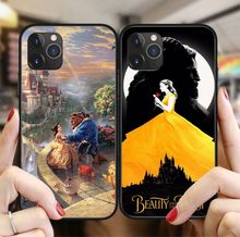 Beauty beast rosa flor princesa preto fosco macio silicone caso do telefone coque fundas para iphone 11 pro max 6 s 7 8 plus x xs max(China)