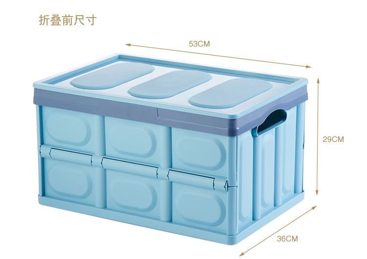 30L/56L coffre de voiture pliant rangement en plastique organisateur voyage en plastique vêtements organisateur boîte en plastique pour voyager vente chaude