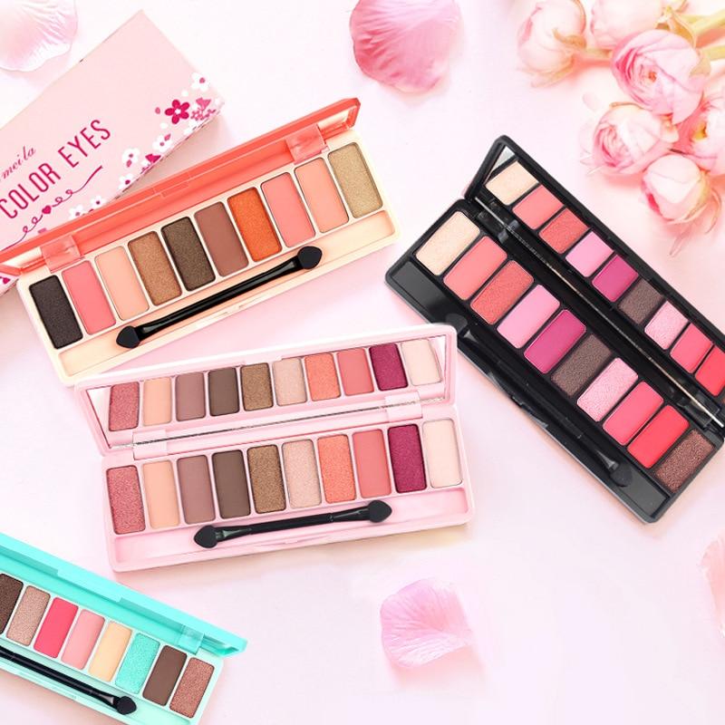 ブランド桃マットアイシャドウパレット赤防水ピンク桜グリッターアイ Palet 韓国化粧品 Oogschaduw D43    グループ上の 美容