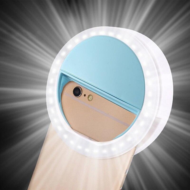 Светодиодная кольцевая лампа RK12 для селфи, портативная Мобильная лампа для селфи, лампа для Iphone с клипсой, лампа для телефона, фотообъектив