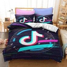 TikTok 2021 Fashion Bedding Set 3D HD Print Duvet Cover Soft Comforter Case Bedroom Comforter Set Queen Size Home Decor Gifts