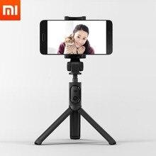 Original xiaomi tripé dobrável monopod selfie vara bluetooth com botão sem fio obturador selfie vara para ios/android