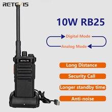 10W walkie talkie digitale a lungo raggio Retevis RB25 Radio bidirezionale analogica potente walkie talkie pratica Radio potabile per la caccia