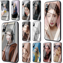 Get more info on the EWAU Sunmi LEE Kpop Girl Tempered Glass phone case for iphone 5 5s SE 6 6s 7 8 plus X XR XS 11 pro Max