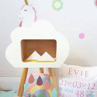 Kids Room Cloud Shelf Wooden Wall Shelf Children Room Decoration Scandinavian Wooden Cloud Shelf For Kids Nursery Decoration