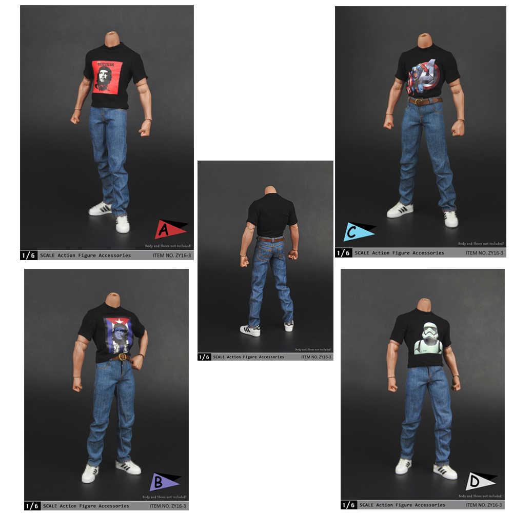 """Accesorios para muñecos a escala 1/6, modelo de ropa para muñecas 1:6, ropa informal para hombre, camisa a cuadros, pantalones vaqueros, traje Fit12 """", figura corporal"""