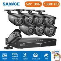 SANNCE 8CH 1080P 2.0MP HD CCTV System Video Recorder 8PCS 1080P CCTV Security Camera Waterproof Night Vision Surveillance Kits