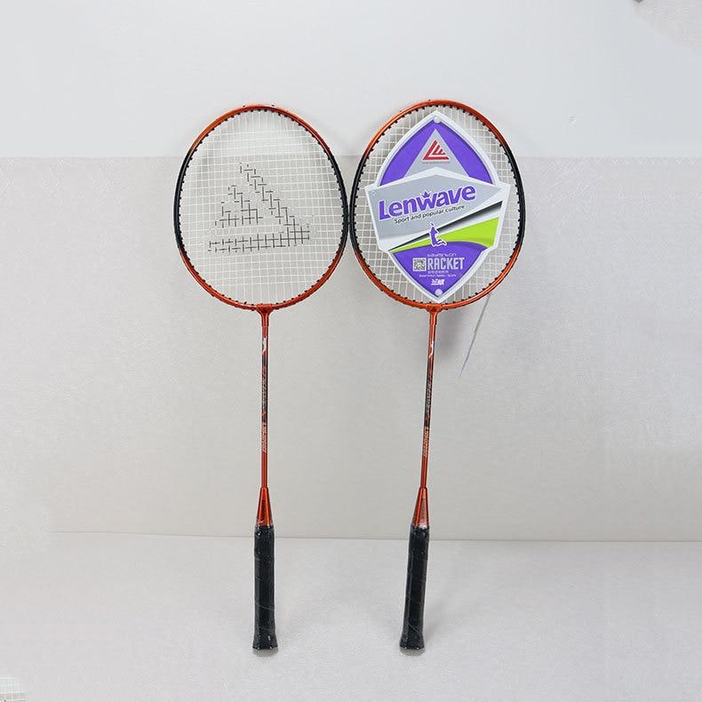 LW-T021 Lenwave Ferroalloy Badminton Racket Dual Capture Children Students Exercise Training Sports Racket Wholesale