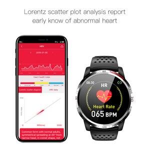 "Image 4 - W3 ECG + HRV + SPO2 ساعة ذكية IP67 مقاوم للماء Lorenz الرسم البياني معدل ضربات القلب ضغط الدم شاشة عرض نسبة الأكسجين في الدّم 1.3 ""أسورة ساعة ذكية"