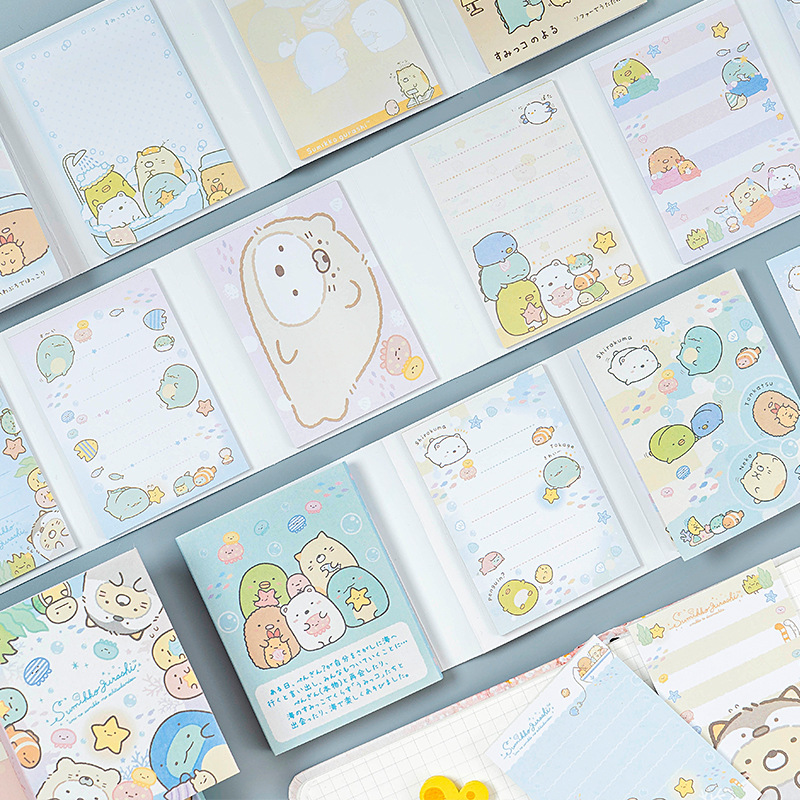 Cartoon Cute Sumikko Gurashi 6 Fold Self-Adhesive Memo Pad To Do List Week Planner Sticky Notes Agenda School Office Supply