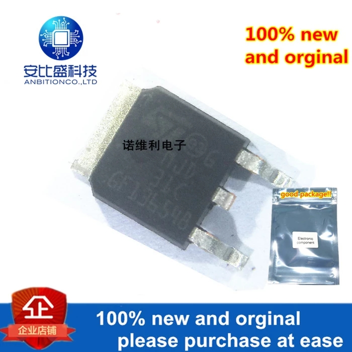 10pcs 100% New And Orginal MJD31CT4G Silk-screen J31CG TO-252 NPN 3A 100V In Stock