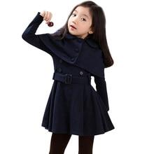 الخريف الدافئة فتاة جاكيتات الصوف سميكة الفتيات ملابس خارجية معاطف الصلبة سترة للأطفال الشتاء في سن المراهقة ازياء للفتيات 6 8 12 سنوات