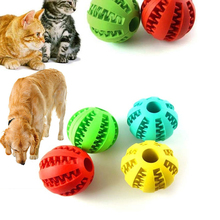 Pet Soft Dog cat Toys Elasticity Ball Chew Toy Tooth Clean Food Rubber