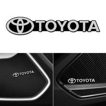3D Car Styling Sticker Aluminum Emblem interior Speaker audio Badge for Toyota c-hr Prado rav4 Yaris hilux prius Corolla Camry