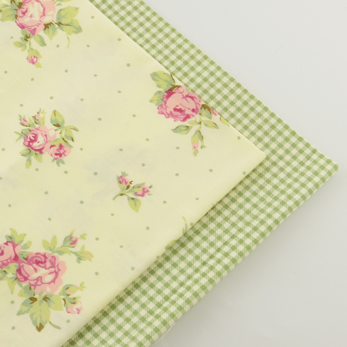 2 pieces rose check 40cmx50cm Cotton Fabric sewing material tecido tissue tida patchwork fabrics quilting bedding home textile